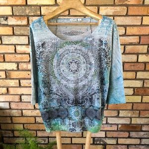 Cato Casual Top 3/4 Sleeve XL